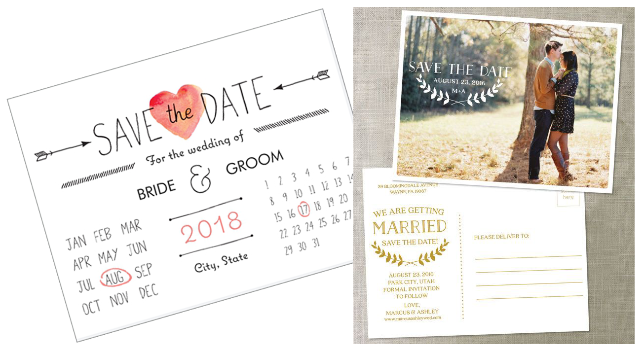 Save The Date Cards Vs Invitations One Atlantic